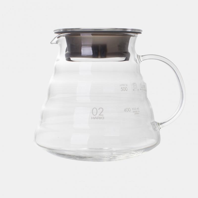 carafe en verre 2 à 5 tasses HARIO pour dripper v60