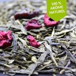 thé vert à la cerise japonaise, fleurie et florale dont les arômes sont dévoilés en tasse FBKT