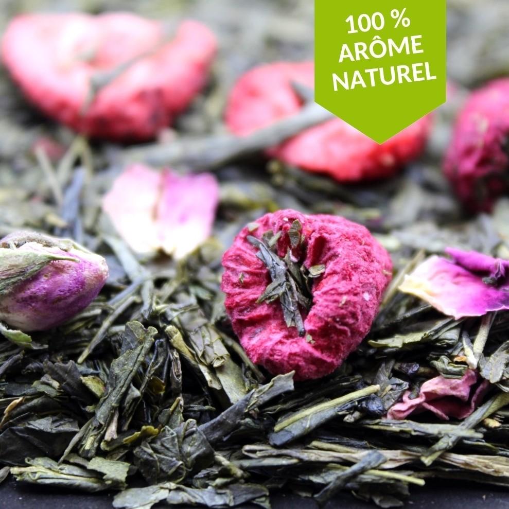 Thé vert parfumé à la framboise et à la fraise FBKT