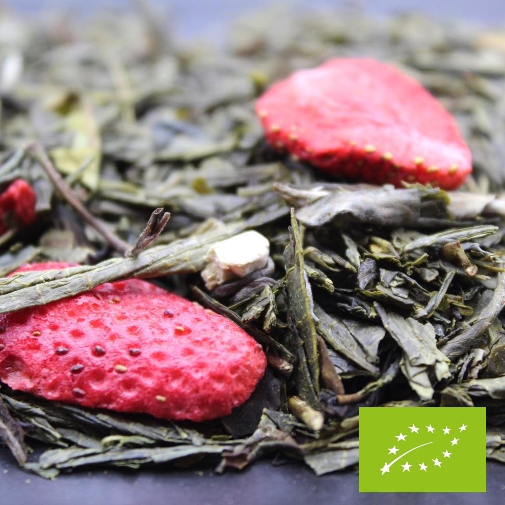 Thé vert BIO à la fraise au jasmin et à la vanille FBKT