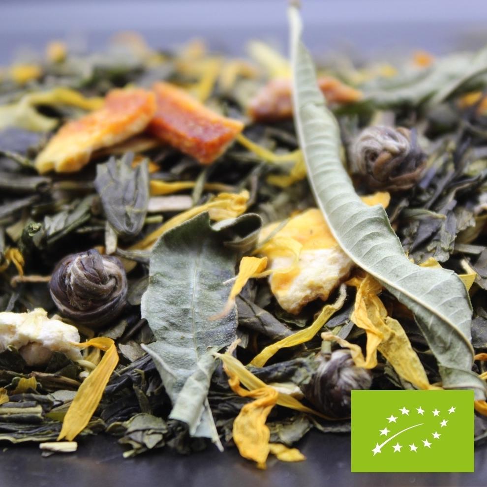 thé vert à la mandarine BIO et à la saveur pamplemousse