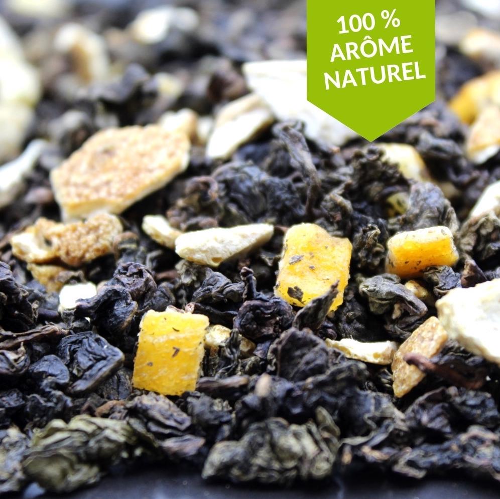Un subtil mariage acidulé de notes d'agrumes se mêlant parfaitement à la douceur d'un thé oolong. Frais, savoureux et faible en théine, le thé Oolong Orange peut être dégusté à tout moment de la journée.