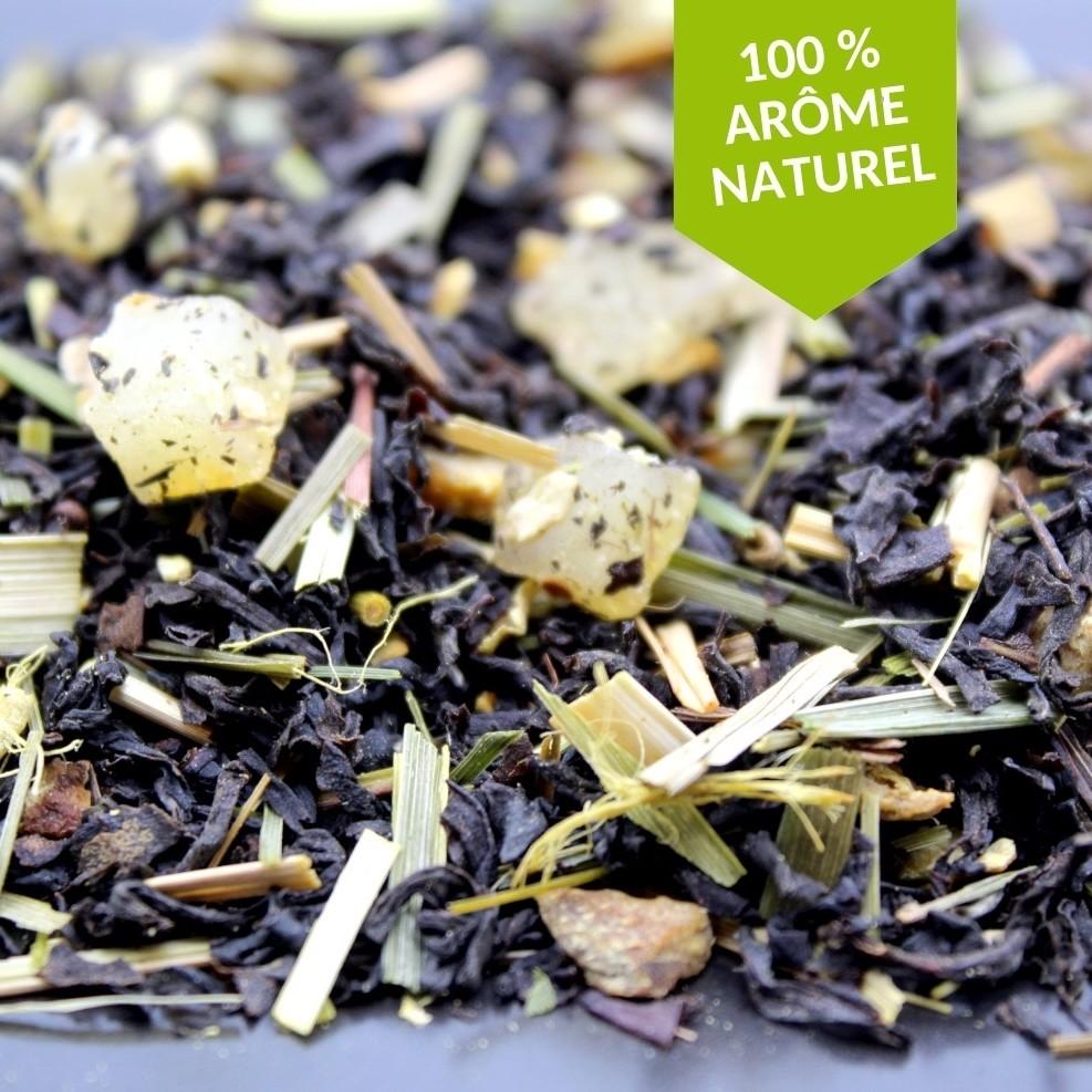 thé noir gingembre citron BIO FBKT