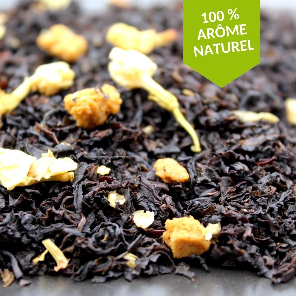 Le thé Noir Speculos Noisette est à déguster sans modération au moment du gouter et à toute heure de la journée pour les plus gourmands !
