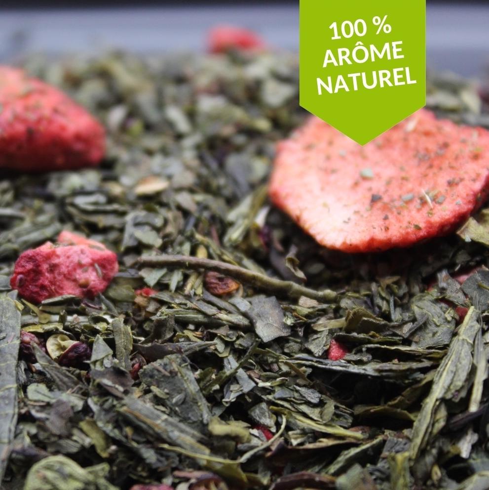 thé vert fraise basilic sichuan de FBKT