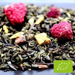 thé noir trilogie de thés noirs BIO saveur pêche framboise de la fabrikathé
